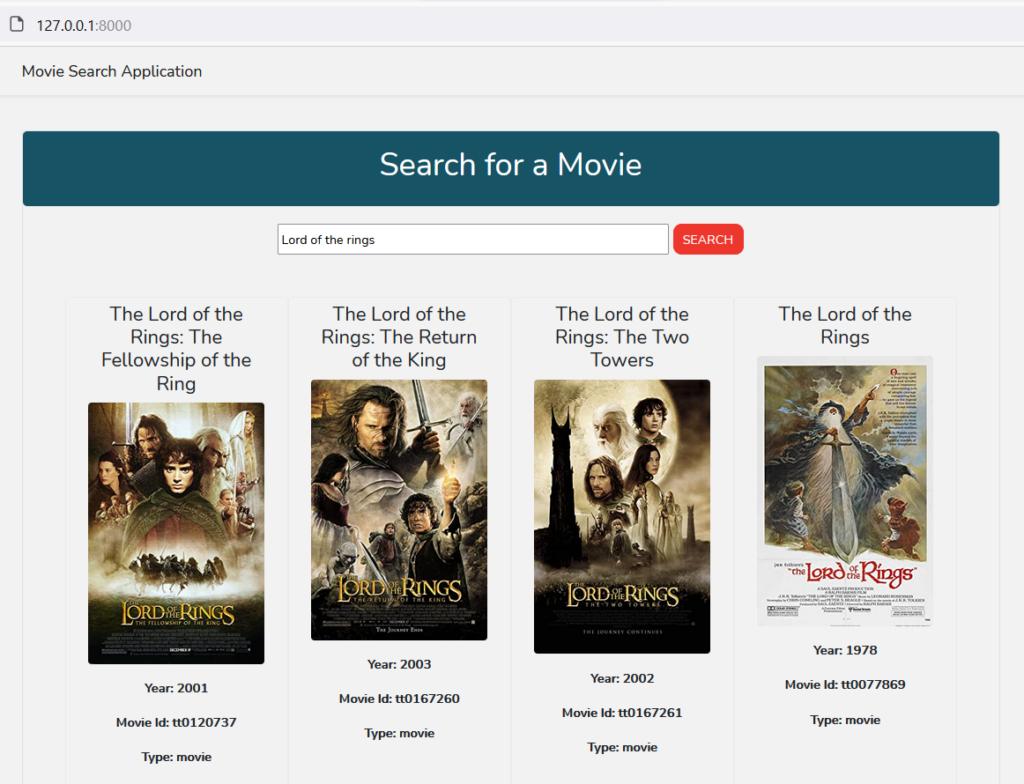 Movie Search Vue Laravel